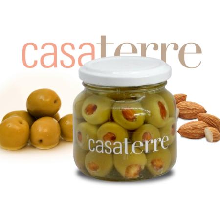 Aceitunas verdes rellenas con almendras tostadas Casaterre