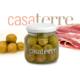 Aceitunas verdes rellenas con jamón crudo Casaterre