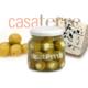 Aceitunas verdes rellenas con queso azul Roquefort Casaterre