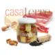 Almendras envualtas en jamón crudo con cubos de queso Sardo Casaterre