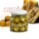 Aceitunas verdes rellenas con queso Reggianito Casaterre