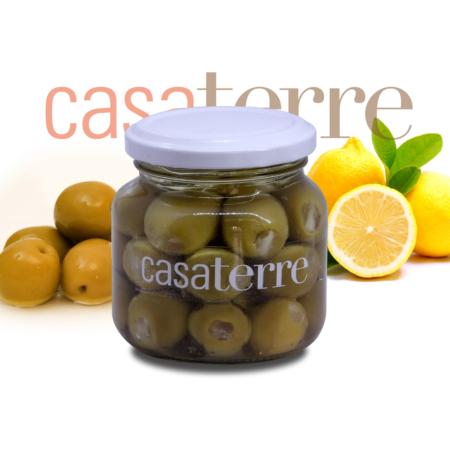 Aceitunas verdes rellenas con limón Casaterre