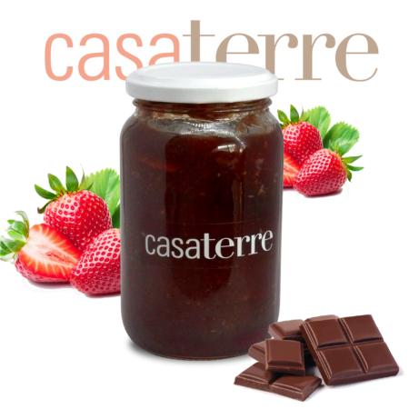 Dulce de frutilla con chocolate Casaterre